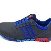 Кроссовки мужские Adidas 42 синие (реплика)
