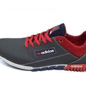 Кроссовки Мужские Adidas 39  черно-красные (реплика)