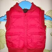Красная теплая жилетка Miniclub 3-6 мес, 62-68 см