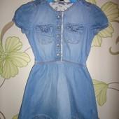 Джинсовое платье George  1-1,5 года, 81-86 см