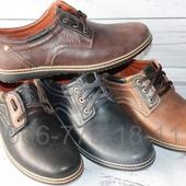 Комфортные мужские туфли, натуральная кожа