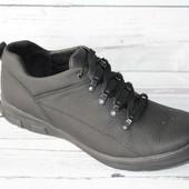 Спортивные мужские туфли, кожаные