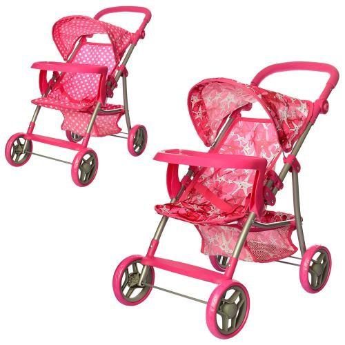 Детская прогулочная коляска для кукол 9366: корзина для игрушек + подставка фото №1