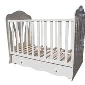 RoyalRoom Махаон детская кроватка на маятнике с ящиком