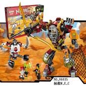 Конструктор Lepin 06035, Ninjago, Ninja, Ниндзяго, Робот-спасатель