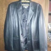 Кожаный мужской пиджак