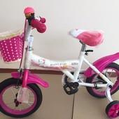 Детский велосипед для девочек Happy Baby, 12 от 2-х до 4-х лет
