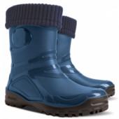 Резиновые сапоги - Demar young fur 0466-A, синие. Р-ры 36-42