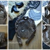 Стильная натуральная кожаная куртка,р-р Л