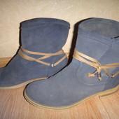 Замшевые деми ботинки Marco Tozzi 38 р., стелька  24.5 см