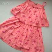 Яркое платье фламинго I Love Next 6-7 лет
