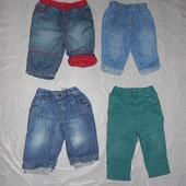 3-6 мес., р. 62-68 джинсы, фирменные джинсики для малышей в отличном состоянии