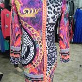 Молодежное платье M-XL с ярким принтом