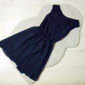xs-s Rare london темно-синее шифоновое платье с открытой спинкой!