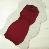 S-M Boohoo платье винного цвета по фигуре!