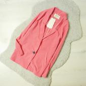 S-M Bershka новый легкий пиджак, блейзер нежно-розового цвета!