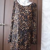 Фирменное Лео платье на 50-52 размер вискоза идеал