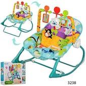 Шезлонг качалка Бемби 323 детский с вибро режимом Bambi стульчик