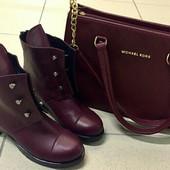 Стильные Hermes болты ! ботинки женские демисезонные сапоги Гермес обувь кожа замша разные цвета