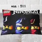 детская подушка с шариками Ниндзяго декоративная