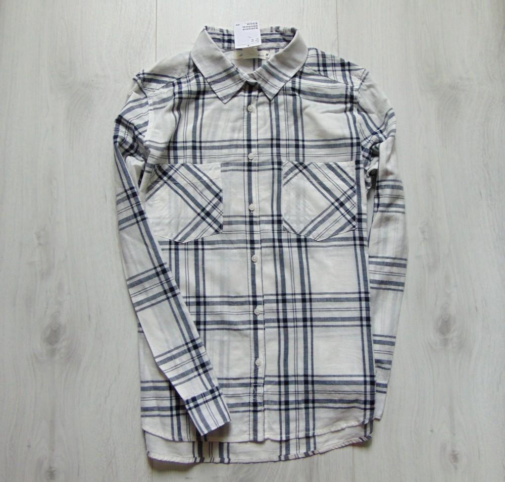 Новая стильная тоненькая рубашка для парня или папы. H&M. Размер 44 (UK 18) фото №1
