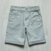 Шикарные плотные котоновые шорты для мальчика. Цвет - серый. George. Размер 5-6 лет