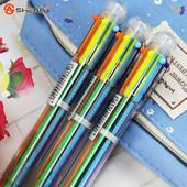 Ручка 6 цветов в 1 трансформер перо пистолет кристалл