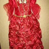 Очень красивое карнавальное платье Бэль TU Disney 5-6лет