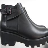 Кожаные ботинки 37-39