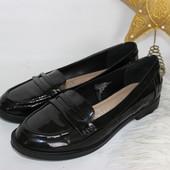 41 26см George Лакированные балетки туфли