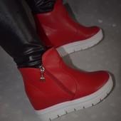 Сникерсы, ботинки, полуботинки красного цвета все размеры! новинка! только приехали!
