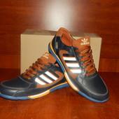 Мужские кроссовки Adidas ZX-850 синие с коричневым