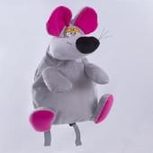 Детский плюшевый рюкзачок игрушка мышонок Люк
