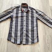 Jack & Jones стильная рубашка на подростка рост 158-165