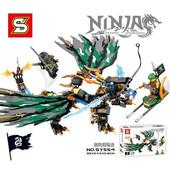 Конструктор Sy554 Bela Ninja зелёный Дракон, ниндзяго Sy 554