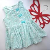 Платье микровельвет Next (12-18 мес)