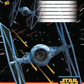 3шт Тетрадь школьная 12л. // 794448 Star Wars Starship 3шт.