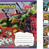 5шт Тетрадь школьная 12л. // 793225 Mutant Ninja Turtles. Drive-15 5шт.