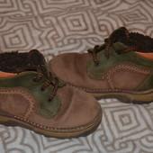Итальянские демисезонные ботинки мальчику Piccolino кожа! 15 см стелька ортпеды