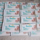 7 грн. Влажные детские салфетки Pampers Sensitive