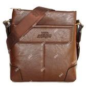 Мужская сумка коричневого цвета через плечо (836 к)