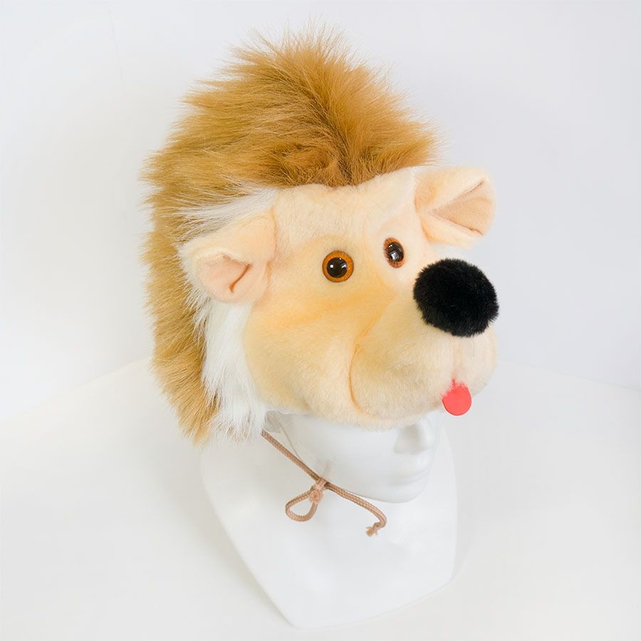 Карнавальный костюм ежика, детская шапочка и маскарадный жилет фото №1
