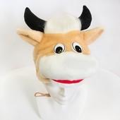 Карнавальный костюм бычка, теленка, детская шапочка и маскарадный жилет