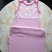 Спальный мешок спальник конверт для сна на девочку фирмы Lupilu размер 74/80
