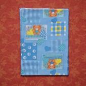 Ситцевая пеленка 80 х 111 см, б/у. Края обработаны оверлоком.