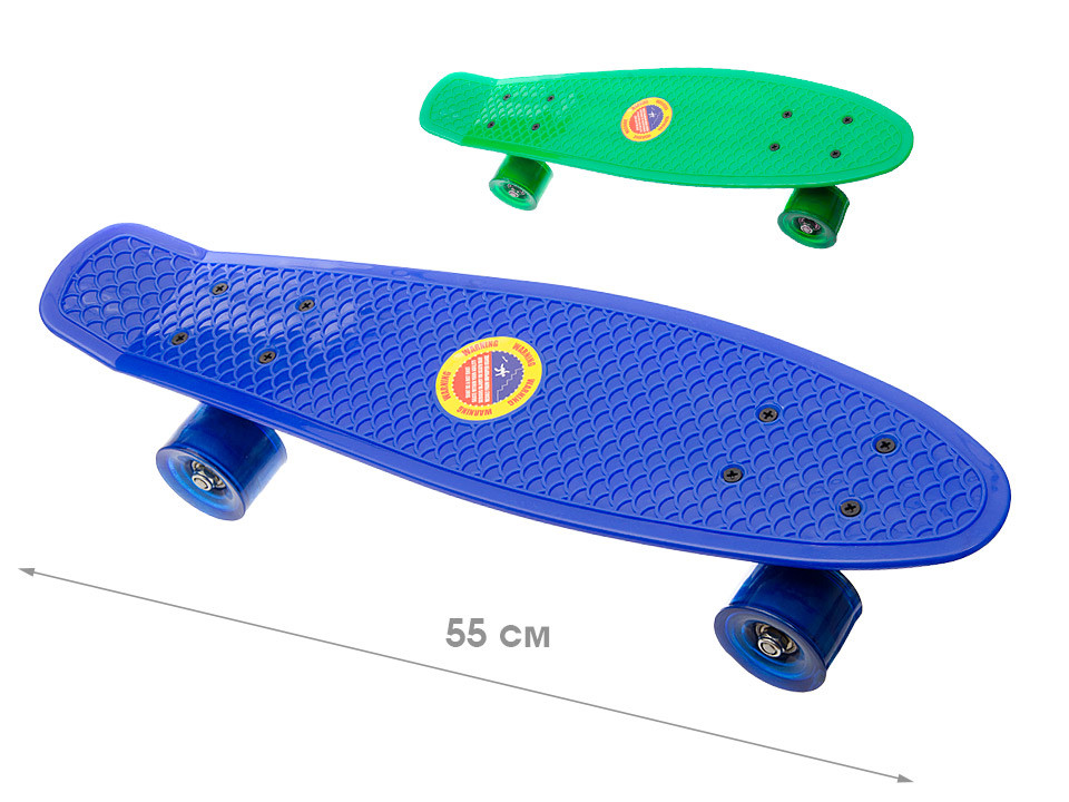 Скейт 55см, колеса pvc, рама металл фото №1