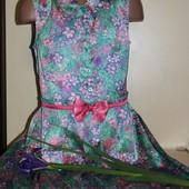 Легкое шелковое летнее платье для девочки от George