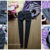 Идеальные черные джинсы-скинни для беременных,р-р М-Л