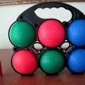 Шары, мячи Смоби в сетке. 6 шт.+1 маленький. Для игры в Петанк.