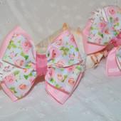 Нежные банты в розовых тонах